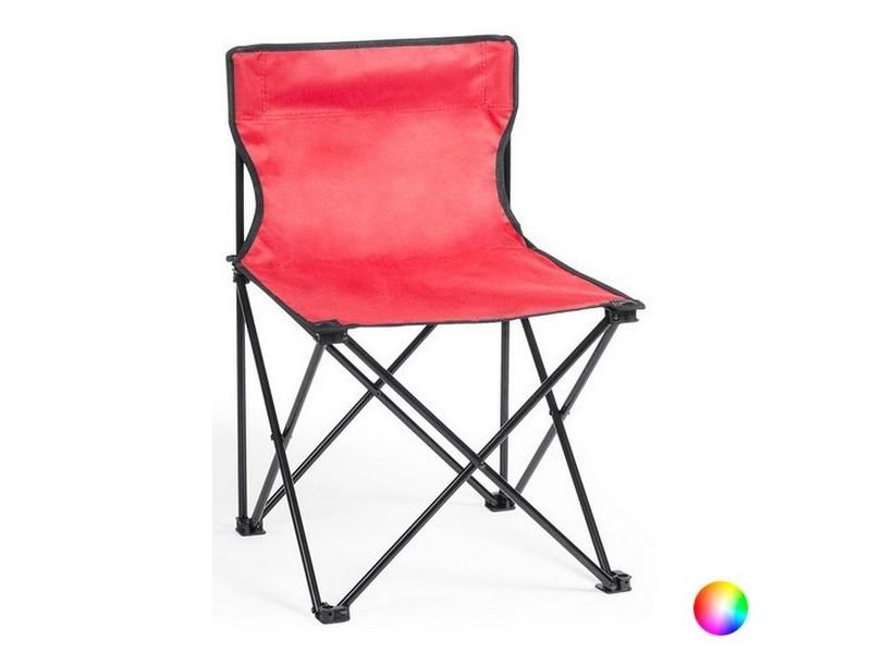 Chaise pliante aluminium avec étui - chaise de voyage couleur - rouge