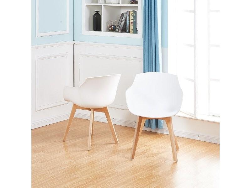 Lot de 6 chaise salle à manger fauteuils scandinave de