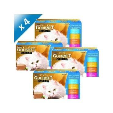 gourmet gold les mousselines multivari t s 24 x 85 g x4 pour chat adulte 4719072403522. Black Bedroom Furniture Sets. Home Design Ideas
