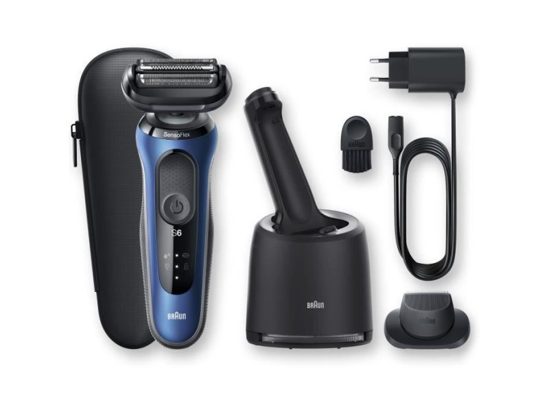 Braun series 6 60-b7200cc tondeuse barbe - autonomie 50min - technologie sensoflex