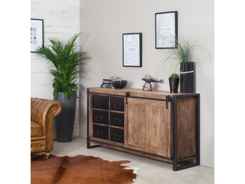 buffet industriel porte coulissante rabpc vente de buffet bahut vaisselier conforama. Black Bedroom Furniture Sets. Home Design Ideas