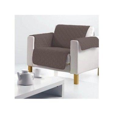 prot ge fauteuil uni club noisette vente de doucceur d interieur conforama. Black Bedroom Furniture Sets. Home Design Ideas