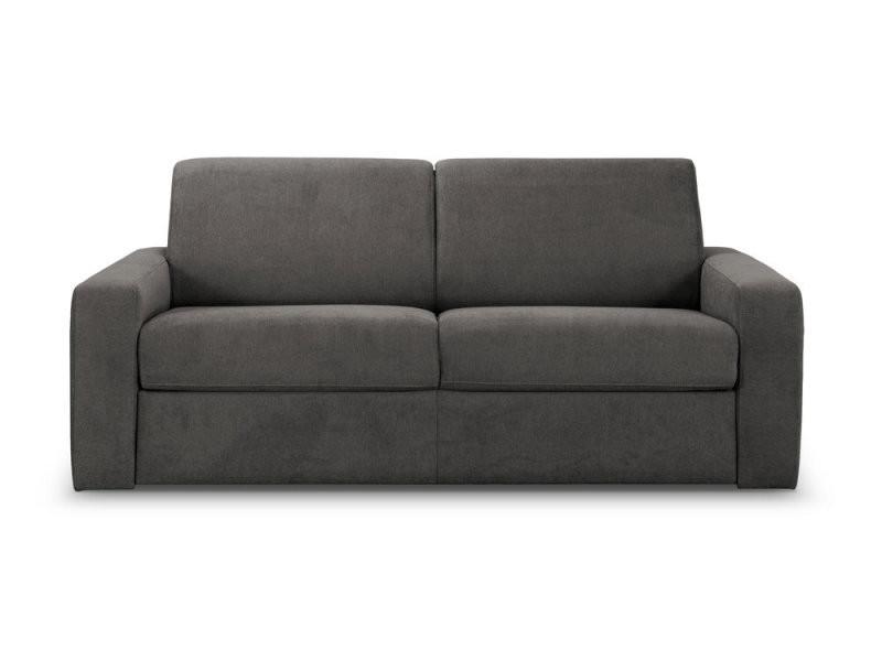 canap convertible express en tissu gris fonc 140x190. Black Bedroom Furniture Sets. Home Design Ideas
