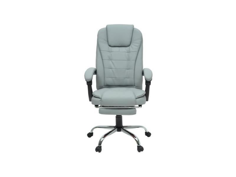 Mack Chaise De Bureau Simili Gris Style Industriel L