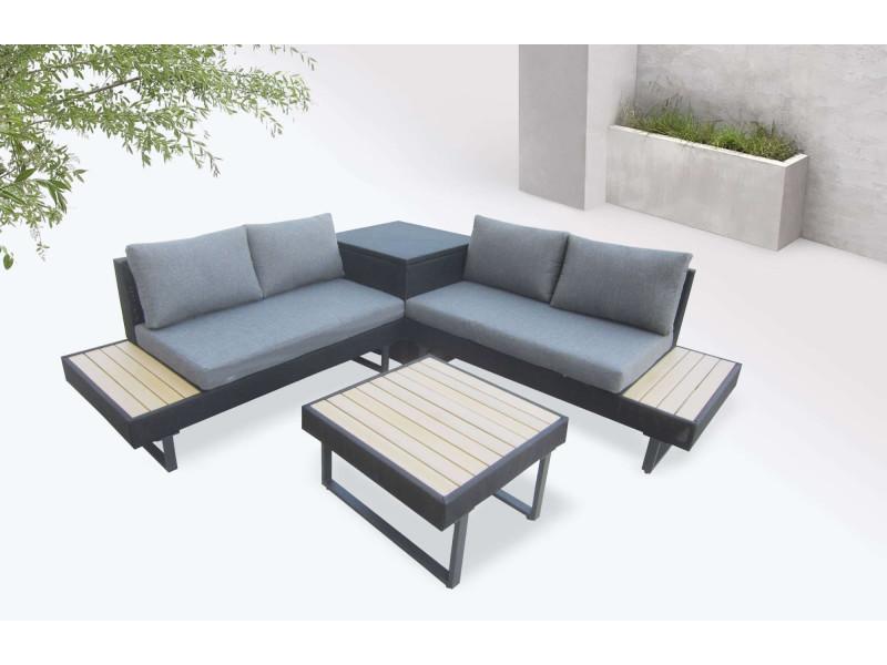 bobochic palma - salon de jardin en angle 5 places - aluminium ...