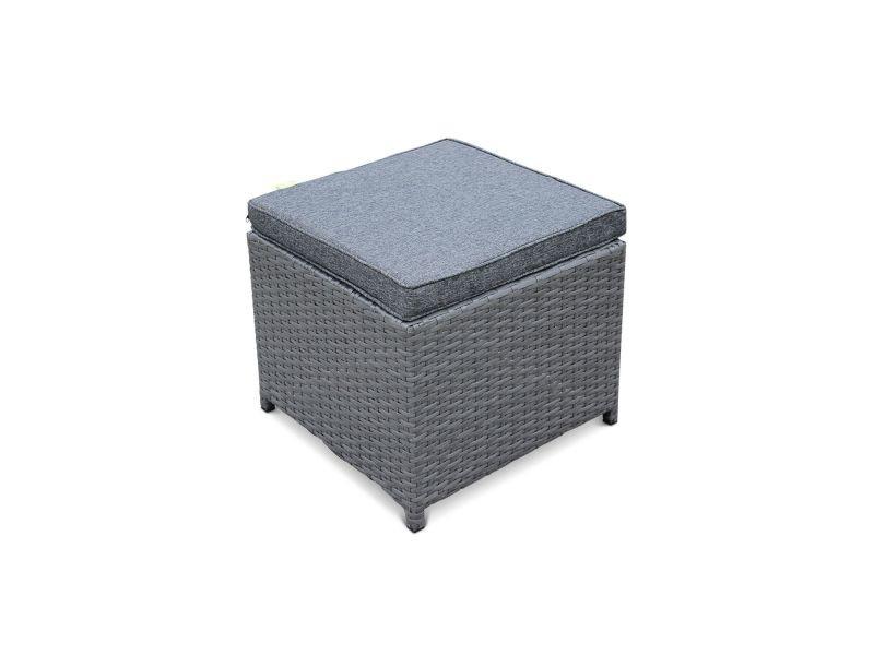 fe827c854aeb4 Salon de jardin vasto gris table en résine tressée 4 à 8 places ...