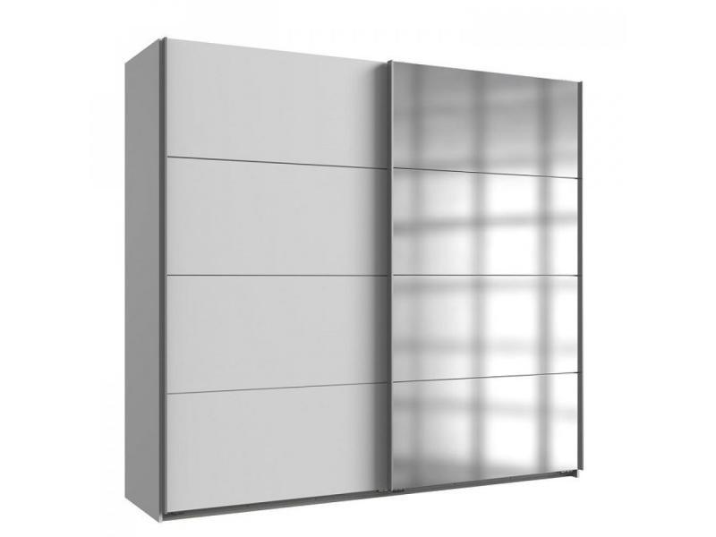 Hanper Armoire de rangement en bois Blanc 73,5 x 66 x 33 cm avec 2 tiroirs et 2 portes pour la maison le bureau la salle de bain