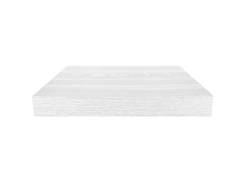 Etagère murale flottante rangement design bois blanc 25x22,8cm