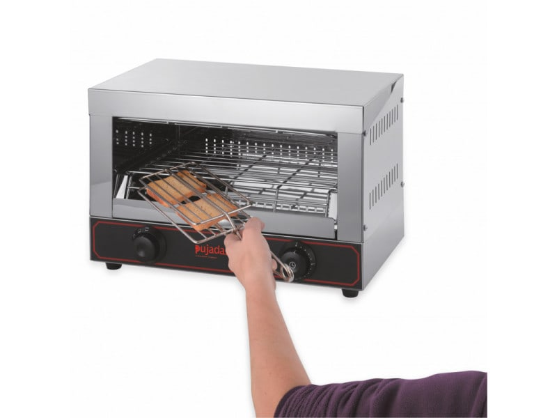 Toaster professionnel avec 3 pinces à sandwich 1,7 kw - pujadas -