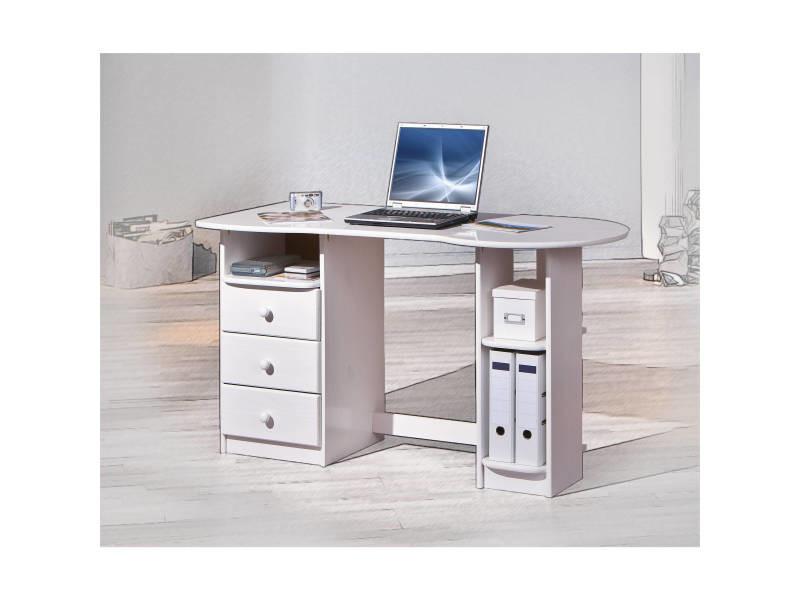 Bureau moderne meuble informatique tiroirs et compartiments