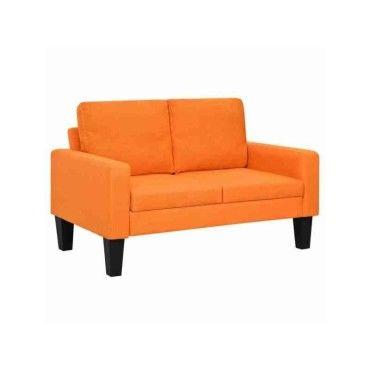 Vidaxl Canape A 2 Places Tissu Orange 245566 Vente De Vidaxl