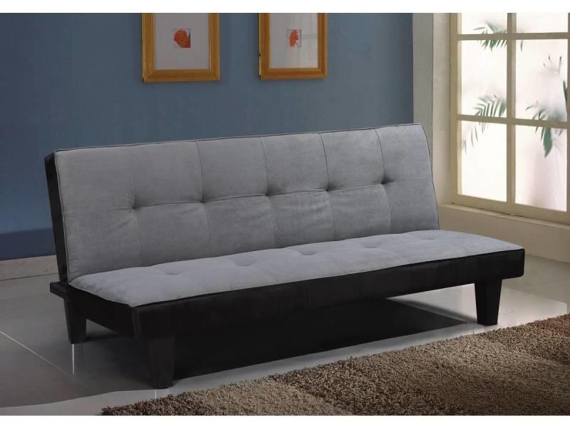 canape clic clac john 3 places gris vente de habitat. Black Bedroom Furniture Sets. Home Design Ideas