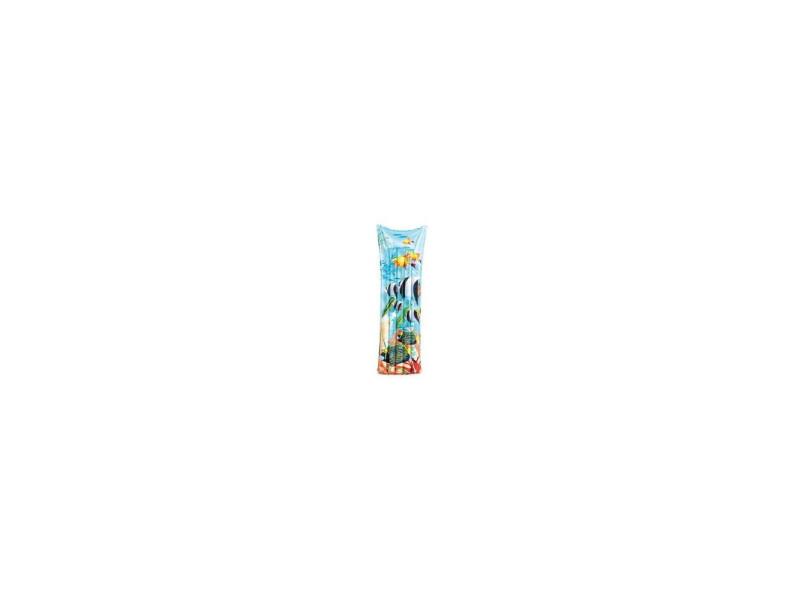 Matelas gonflable - poisson - l 183 x l 69 cm - vinyle