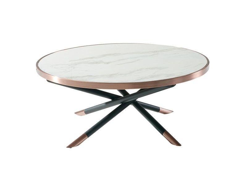 Ceciliane - table basse ronde plateau céramique