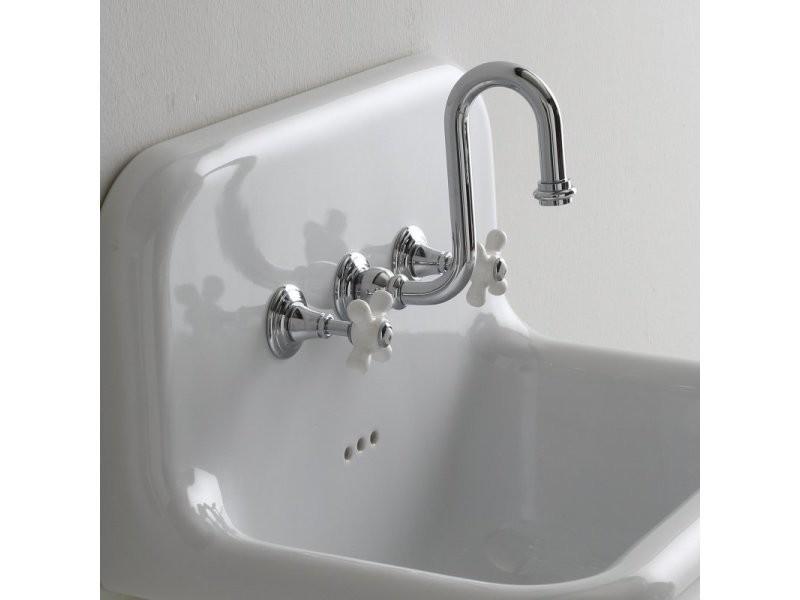 WOOHSE Robinet Lavabo Cascade Mitigeur Vasque Carr/é Robinetterie Lave-mains Monotrou /à Monocommande en Laiton Chrom/é
