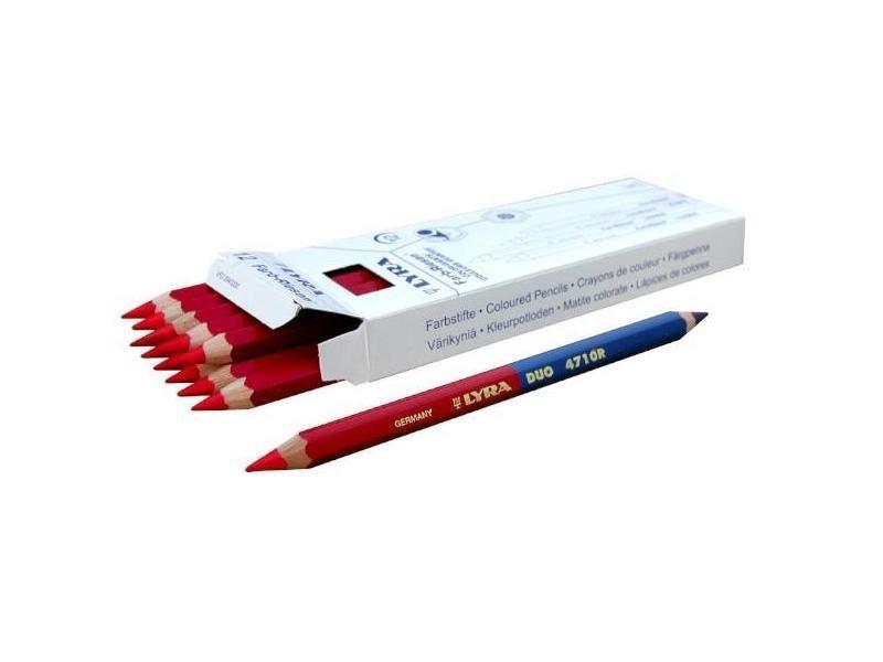 Outifrance - boîte de 12 crayons bicolores 175 mm - 5280340