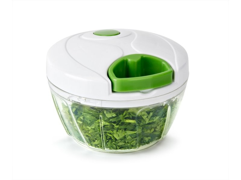 Lagom - hachoir manuel, capacité 500ml, 3 lames en acier inoxydable, hache les fruits, légumes, noix, vert et blanc Lagom
