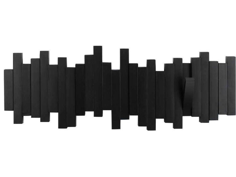 Porte manteaux mural design noir \