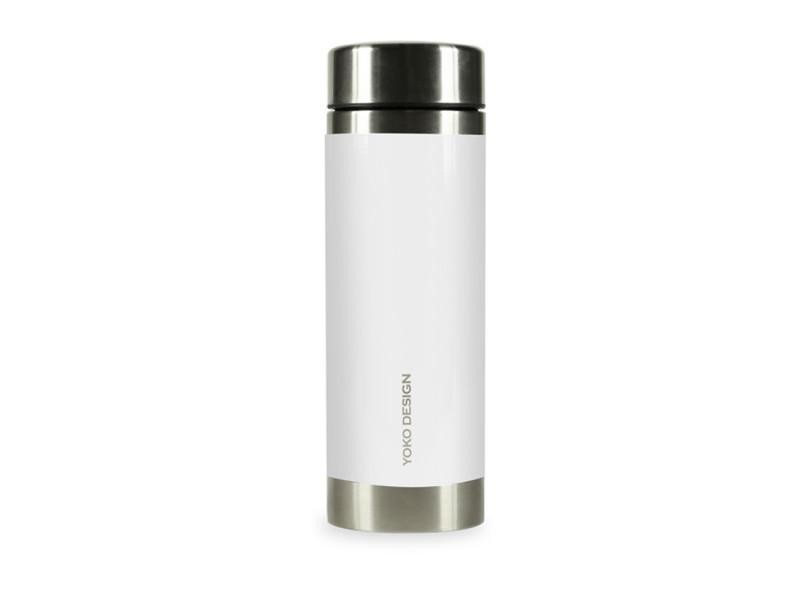 Théière moderne théière nomade isotherme 2 filtres amovibles liber'tea 350 ml - blanc et inox