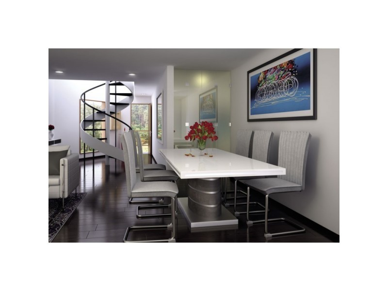 Table en mdf blanc fabio avec rallonge TENDENCIO