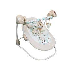 Balancelle musicale et programmable + barre à jouets - beige