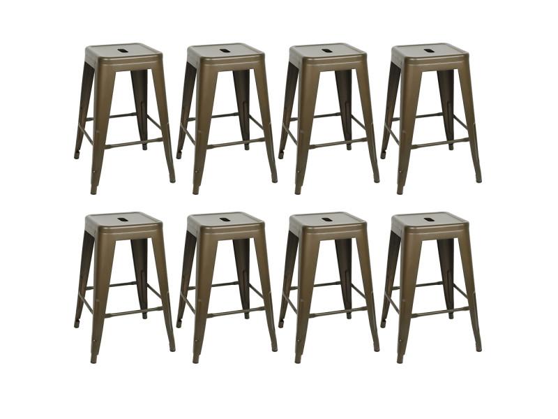 8pcs tabourets de bar,chaises de bar hombuy style simple pour cuisine/ jardin/ bistrot etc.