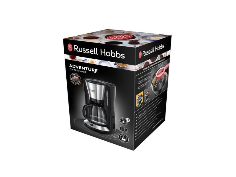 Russellhob cafetiere filtre adventure - 24010-56 - 1.25 l - acier brosse/noir 3631