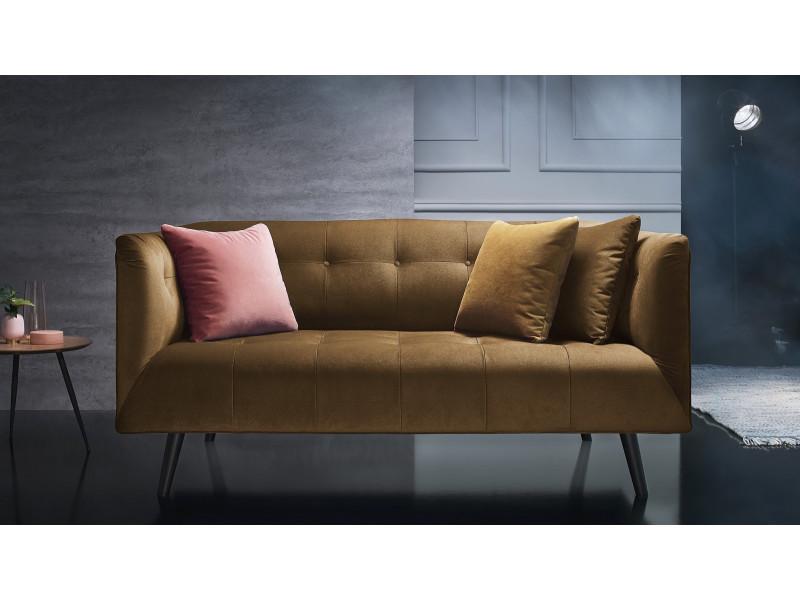 canape 3 places fixe paris jaune moutarde vente de bobochic conforama. Black Bedroom Furniture Sets. Home Design Ideas