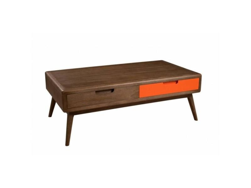 Table basse 2 tiroirs lucas style colonial en mindi 20100839496
