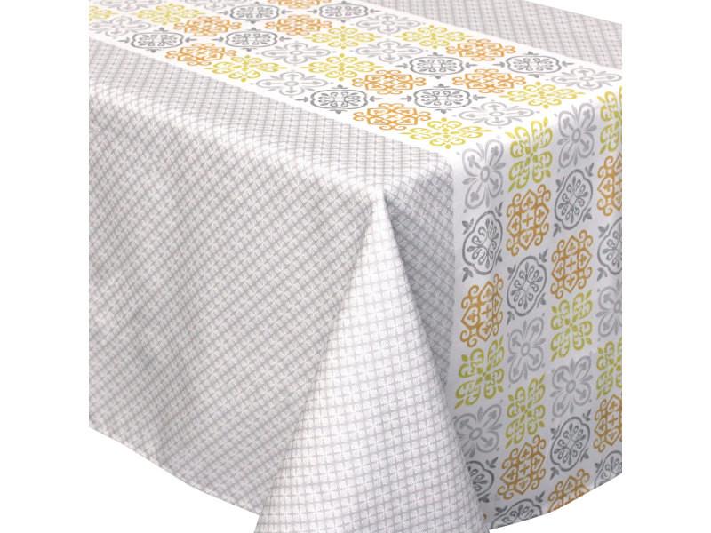 Nappe rectangle 150x300 cm imprimée 100% polyester caro ...