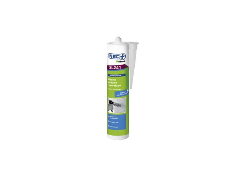 Mastic silicone sanitaire sl241 nec+ transparent 310ml x 5 REMPLACEPAR8521