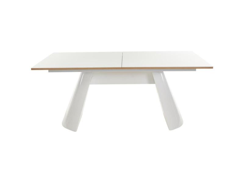 Subleem table extensible 180 à 240 cm collins bois chêne et blanc