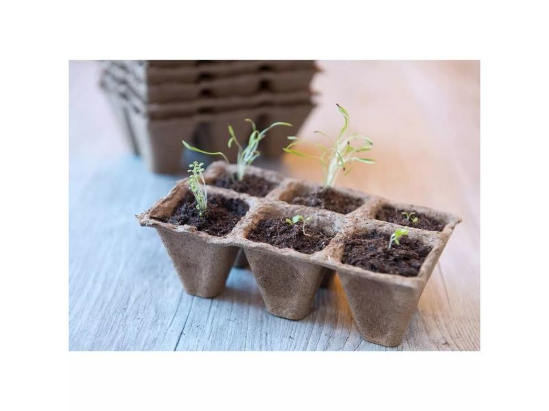 Icaverne - pots en plastique gamme nature pots de tourbe 4 x 4 x 5 cm 144 pièces