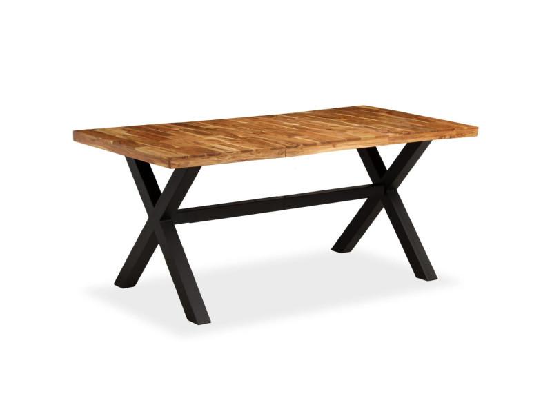 Vidaxl table de salle à manger bois d'acacia et manguier 180x90x76 cm 245640