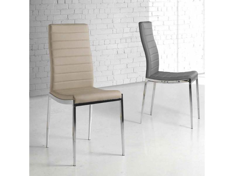 justinelot design de taupe Chaise de 4Vente Qhrtsd