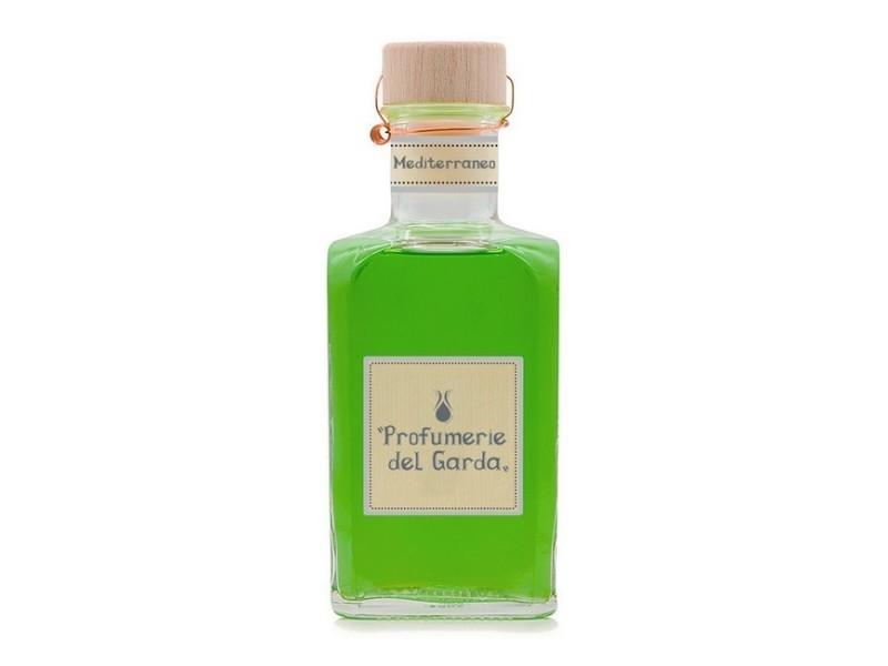 Homemania diffuseur mediterraneo - assainisseur d'air avec bâtons - parfum boisé et d'agrumes - 500 ml vert en verre, bois, parfum, 7,5 x 7,5 x 19 cm