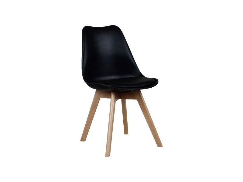 chaise scandinave assise rembourre bernice conforama - Chaise Scandinave Rembourree