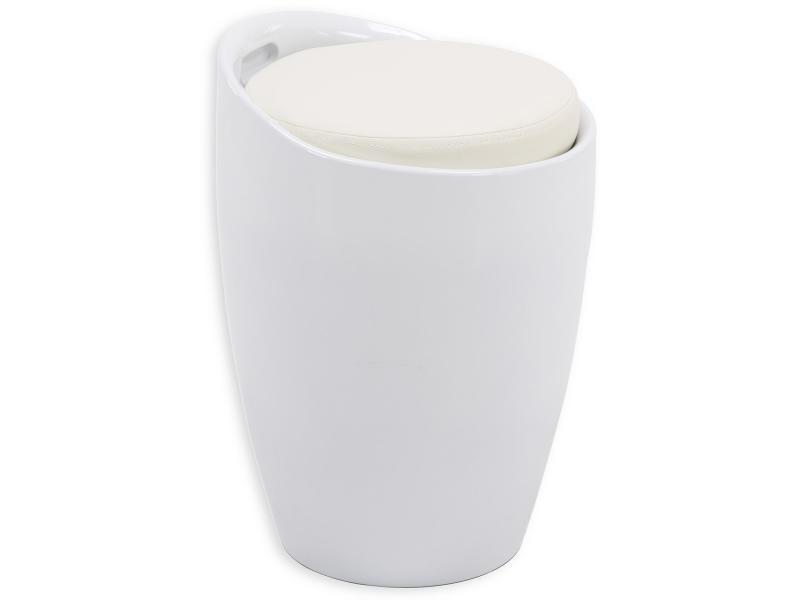 Tabouret coffre rangement blanc vente de bar et tabouret - Tabouret coffre pour salle de bain ...