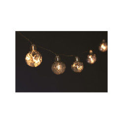 Guirlande de noël lumineuse boules - 1,35 m - blanc