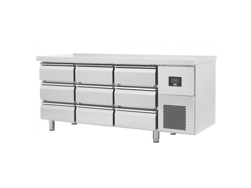Table réfrigérée négative gamme gn 1/1 - 6 à 12 tiroirs - afi collin lucy - r290 457 litres