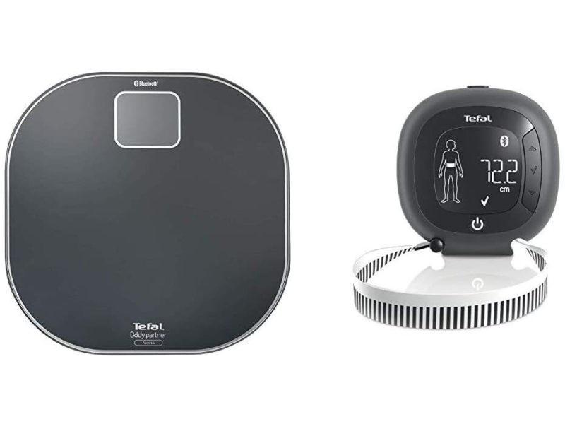 Pèse personne connecté et capteur de silhouette unique connectés noir