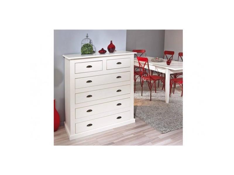 commode cassala en pin massif 6 tiroirs 20100837300 conforama. Black Bedroom Furniture Sets. Home Design Ideas