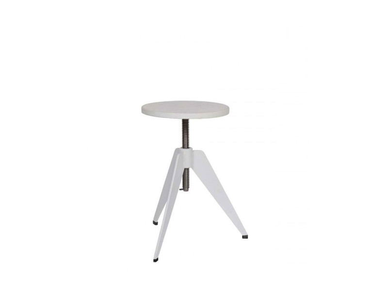 beautiful tabouret vis industriel skills couleur blanc w vente de bar et tabouret de bar. Black Bedroom Furniture Sets. Home Design Ideas
