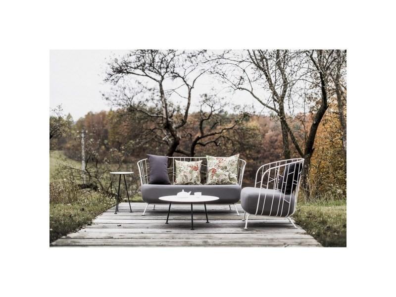 Salon de jardin egoe canapé fauteuil tables basse et haute maj