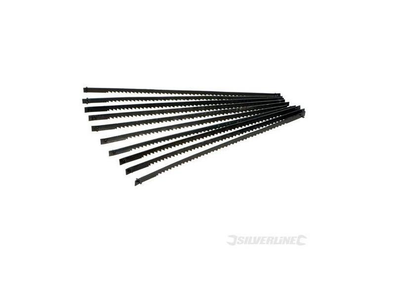 Silverline - 10 lames de scie à chantourner l:130 mm pour la coupe du plastique et du bois (24 dents)