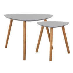 Table basse gris conforama for Table scandinave grise