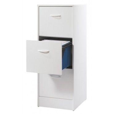 Classeur 3 Tiroirs Pour Dossiers Suspendus 41 4 Cm Blanc Vente De Beauxmeublespaschers Conforama