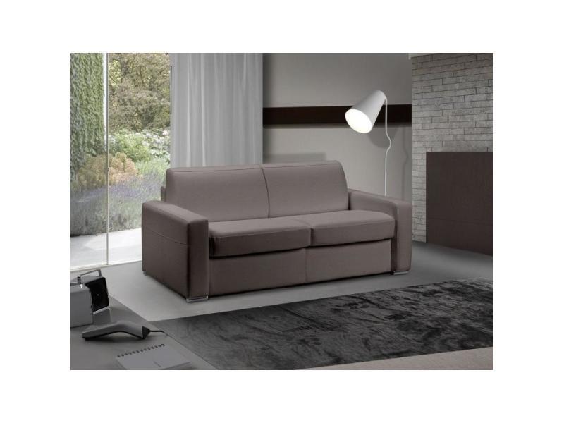 canap lit 3 4 places master convertible ouverture rapido 160 cm cuir eco taupe matelas 18 cm. Black Bedroom Furniture Sets. Home Design Ideas