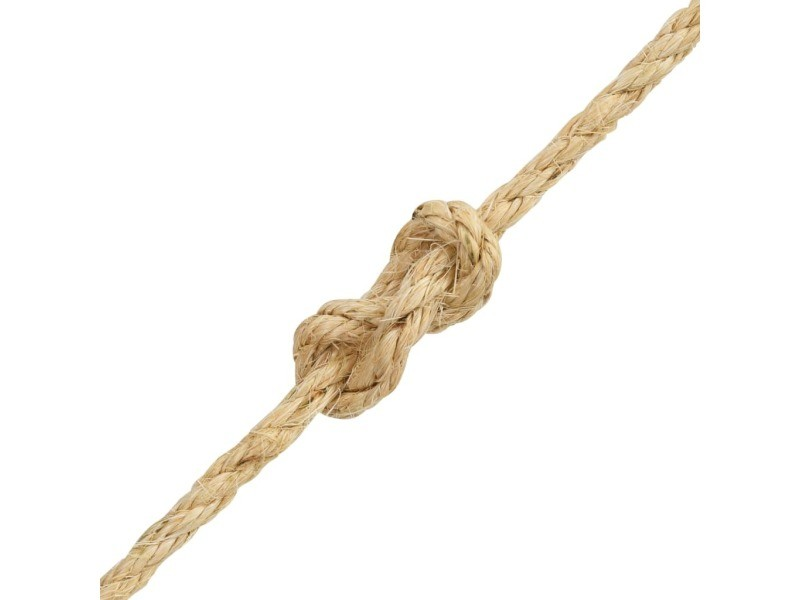 Icaverne - cordes et câbles de construction ligne corde 100 % en sisal 10 mm 250 m