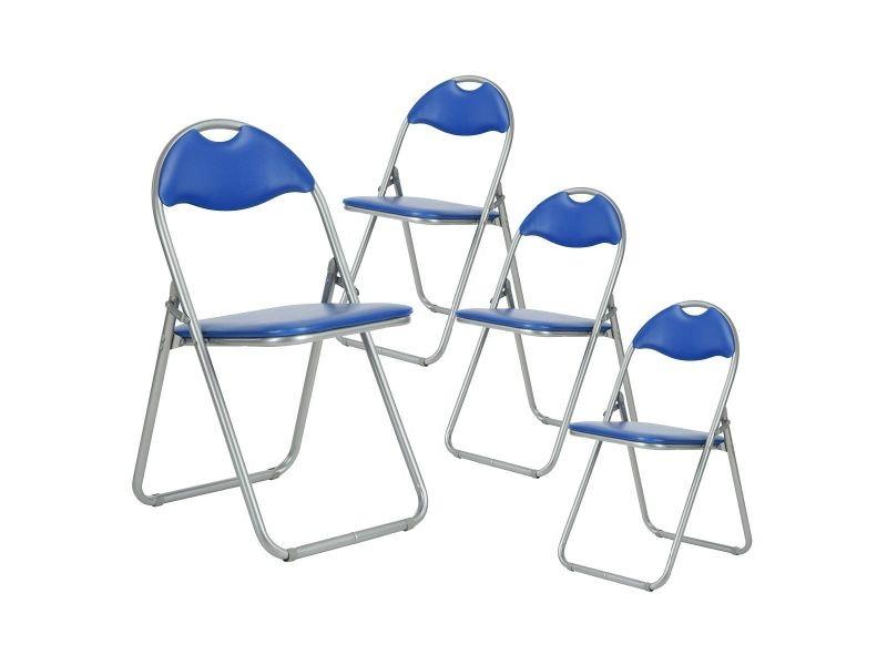 de 4 chaises pliantes lot grises Patty bleues et Vente PZOkXiuT